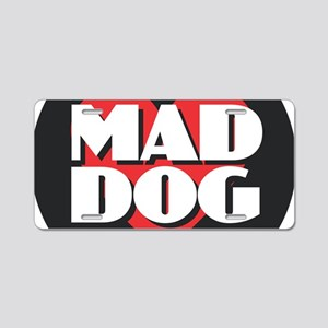 MAD DOG - Red Heart Aluminum License Plate
