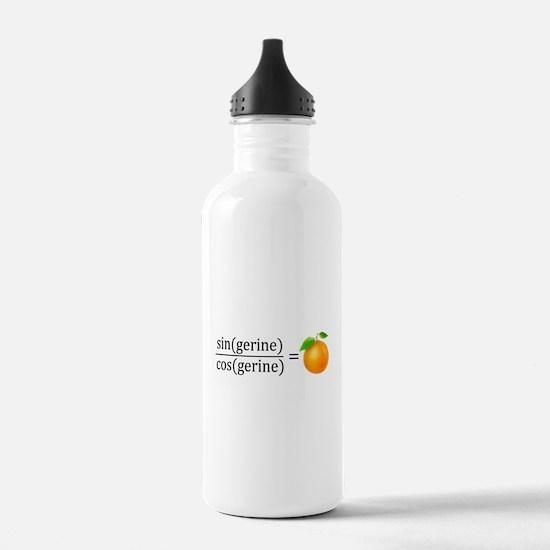 tan(gerine) math Water Bottle