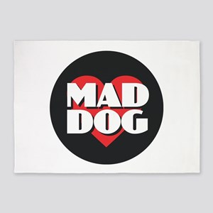 MAD DOG - Red Heart 5'x7'Area Rug