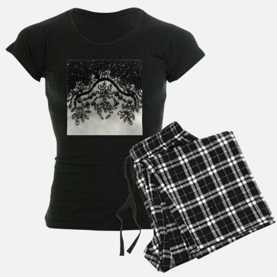 boho floral black rhinestone Pajamas