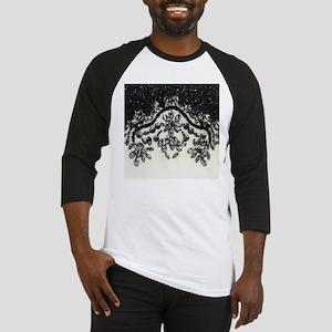 boho floral black rhinestone Baseball Jersey