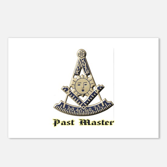 A F & A M Past Master Postcards (Package of 8)
