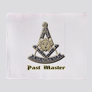 A F & A M Past Master Throw Blanket