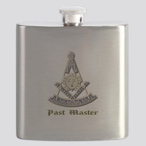 A F & A M Past Master Flask