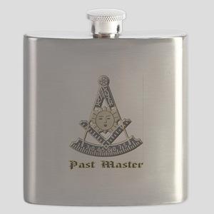 A F & A M Past Master Flask
