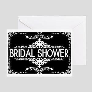 Wedding Series: Bridal Shower (Black Greeting Card