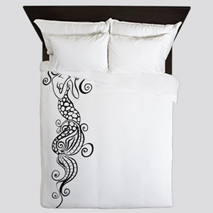 Black/White Mermaid Queen Duvet