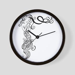 Black/White Mermaid Wall Clock