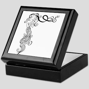 Black/White Mermaid Keepsake Box