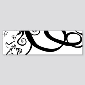 Black/White Mermaid Sticker (Bumper)