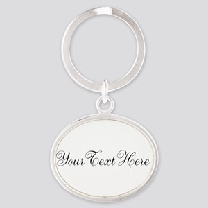 Your Text in Script Keychains