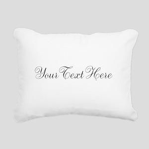 Your Text in Script Rectangular Canvas Pillow
