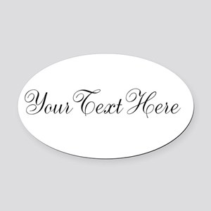 Your Text in Script Oval Car Magnet