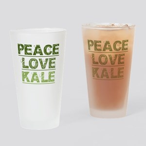 Peace Love Kale Drinking Glass
