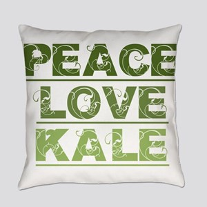 Peace Love Kale Everyday Pillow