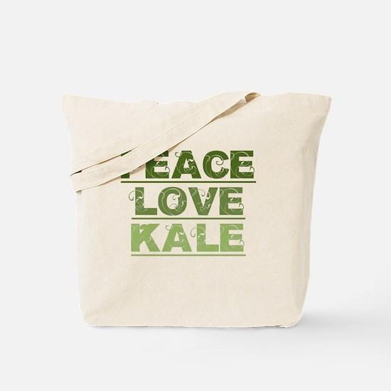 Peace Love Kale Tote Bag