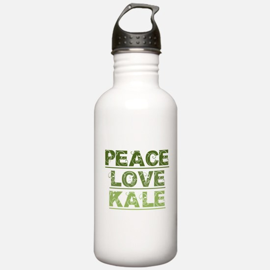 Peace Love Kale Water Bottle