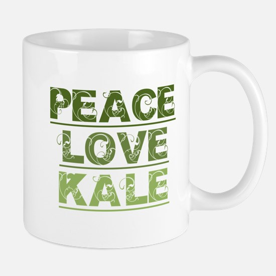 Peace Love Kale Mugs