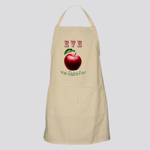 Eve Was Gluten-Free with a Red Apple Design Apron