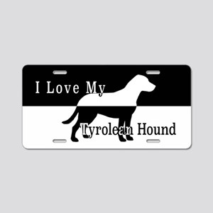 Tyrolean Hound Aluminum License Plate