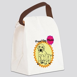Proud Dog Mama Canvas Lunch Bag