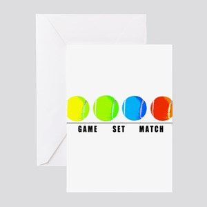 GAME SET MATCH Greeting Cards