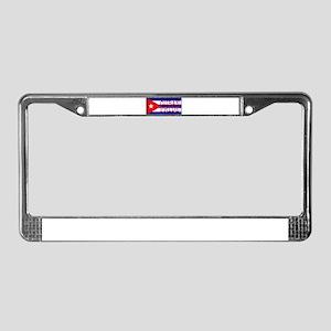 Cuban Pride License Plate Frame