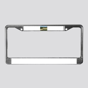 El Camino: Wooden cross, Spain License Plate Frame
