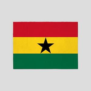 Flag Of Ghana 5'x7'area Rug