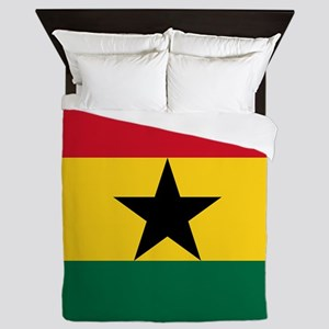 Flag Of Ghana Queen Duvet
