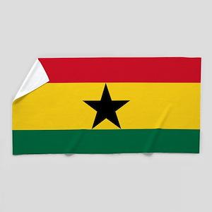 Flag of Ghana Beach Towel