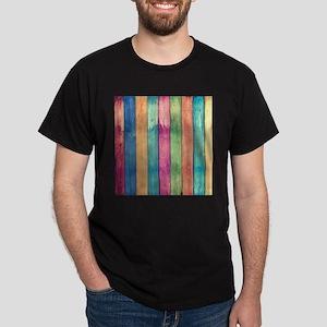 Colorful Wood Dark T-Shirt