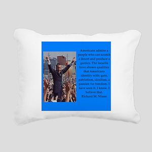 Richrd nixon quotes Rectangular Canvas Pillow