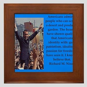 Richrd nixon quotes Framed Tile