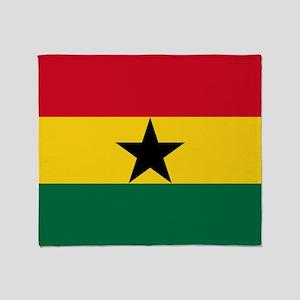 Flag Of Ghana Throw Blanket