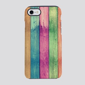 Colorful Wood iPhone 8/7 Tough Case