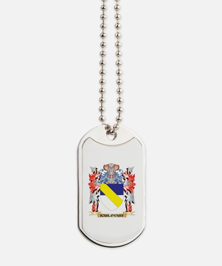 Karlovshy Coat of Arms - Family Crest Dog Tags