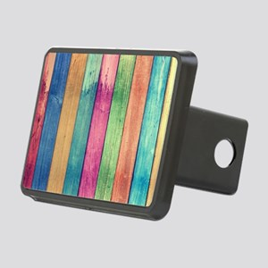 Colorful Wood Rectangular Hitch Cover