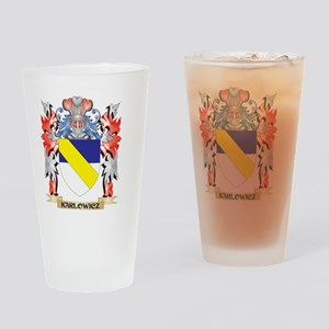 Karlowicz Coat of Arms - Family Cre Drinking Glass