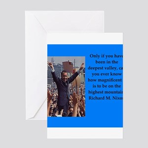 Richrd nixon quotes Greeting Cards