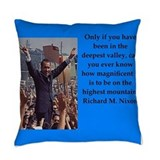 Richard nixon Woven Pillows