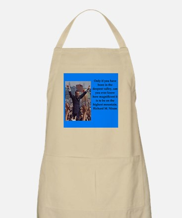 Richrd nixon quotes Apron