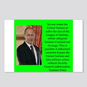 Vladiir Putin Quote Postcards (Package of 8)