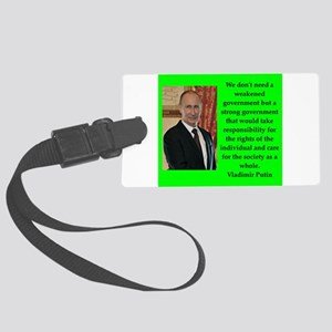 Vladiir Putin Quote Luggage Tag