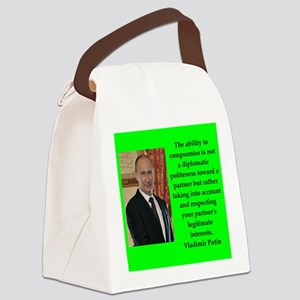 Vladiir Putin Quote Canvas Lunch Bag