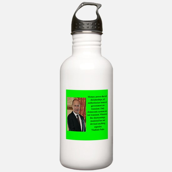 Vladiir Putin Quote Water Bottle