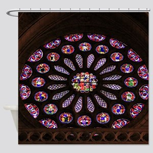 Leon Cathedral window, Spain Shower Curtain