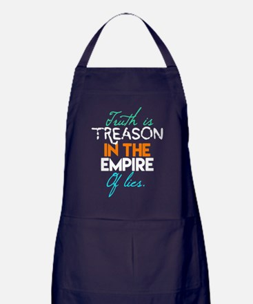 Truth Is Treason In The Empire Of Lie Apron (dark)