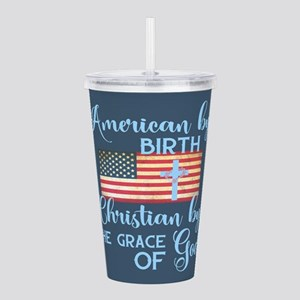 Christian American Acrylic Double-wall Tumbler