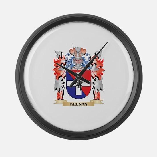 Keenan Coat of Arms - Family Cres Large Wall Clock